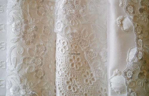 three white pillow tops