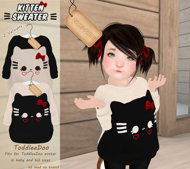 ::Puddi-Puddi:: ToddleeDoo Kitten Sweater