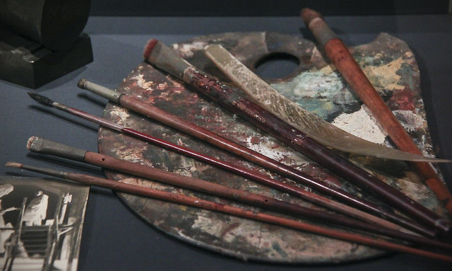 G. F. Watts's Painter's Palette and brushes