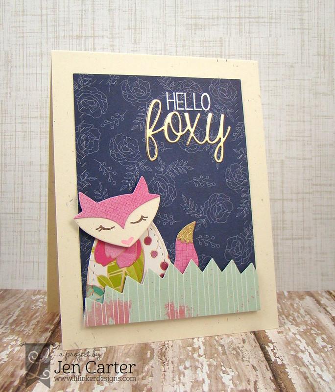 Jen Carter Pink Hello Foxy wm