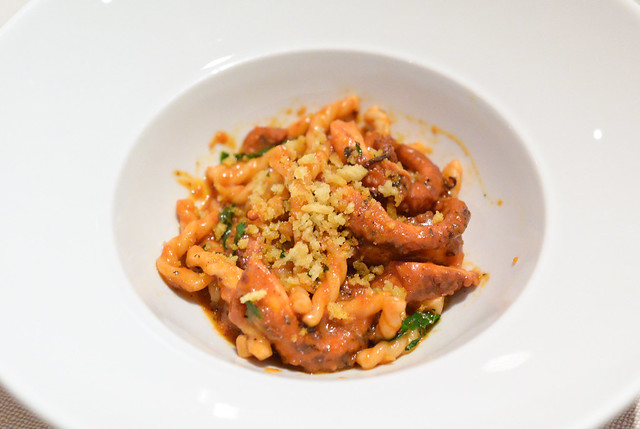 FUSILLI red wine braised octopus, bone marrow