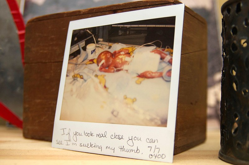 55/365. a polaroid from the nicu days.