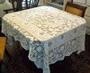 Vintage Gorgeous Hand-Woven Lace Rectangular Tablecloth