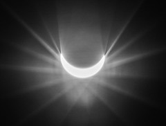 line(0.0), corona(0.0), circle(0.0), light(1.0), monochrome photography(1.0), celestial event(1.0), monochrome(1.0), darkness(1.0), black-and-white(1.0), lens flare(1.0),