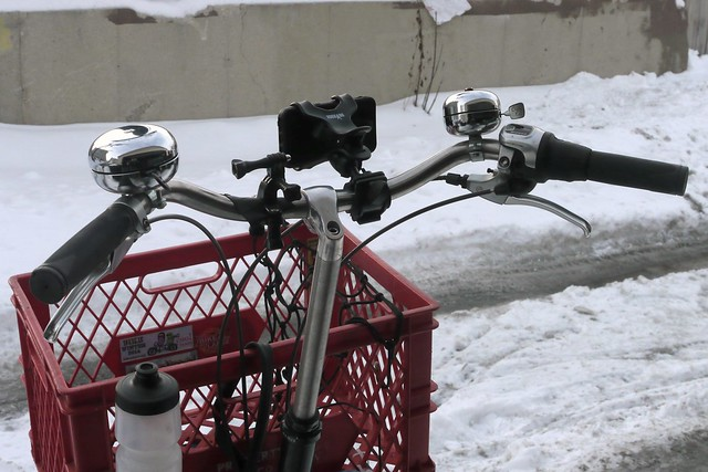 Bicycle holds an iPhone to take street view-style images