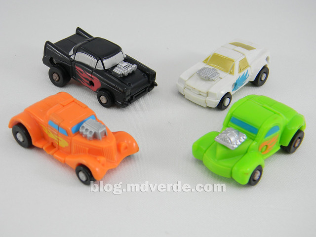 Transformers Micromaster Hot Rod Patrol (Big Daddy, Trip Up, Greaser, Hubs) - Transformers G1 Micromasters - modo alterno