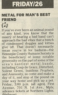 05/26/89 Hennepin County Humane Society Benefit @ First Avenue, Minneapolis, MN
