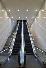 symmetry, subway, escalator, infrastructure,