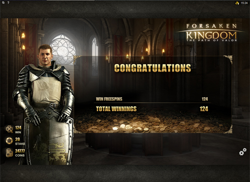 Forsaken Kingdom Free Spins Win