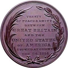 Treaty of Ghent medal BHM841-rev