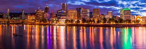 longexposure reflection water skyline night oregon portland landscape hawthornebridge pacificnorthwest portlandoregon willametteriver waterfrontpark eastbankesplanade