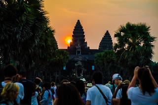 Image of Angkor Wat near Siem Reap. asia2015 mainwalkway cambodia centraltower angkorwat siemreap temple អង្គរវត្ត krongsiemreap kh