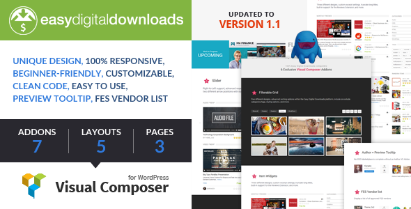 Easy Digital Downloads for Visual Composer v1.1.1