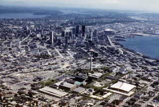 Seattle Center and downtown, 1977
