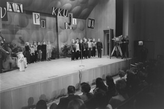 The first public telecasting by Yle 30.11.1957, Christmas party