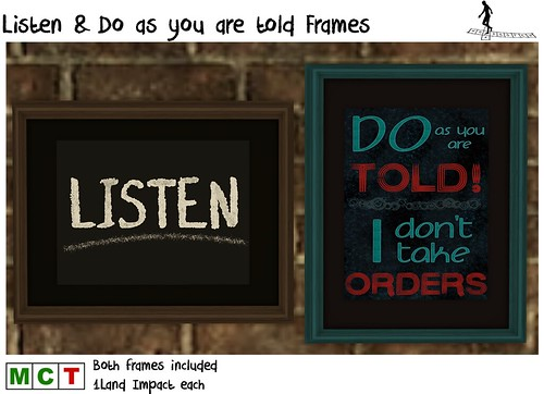 Listen&Do as you are told Frames