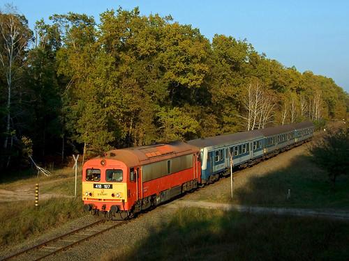 máv m41 vonat vasút csörgő darány középrigóc