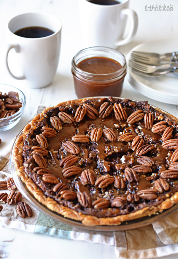 Chocolate Turtle Pecan Pie! bethcakes.com
