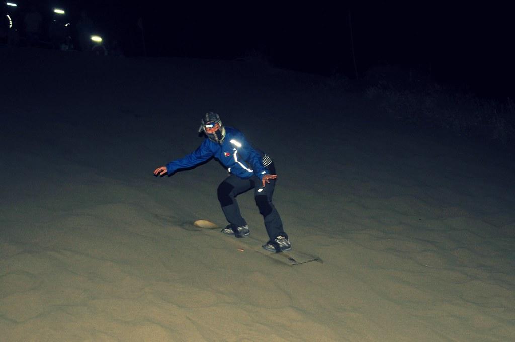 Evening Sandboarding