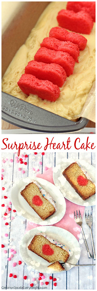 Surprise Heart Cake #Valentinesday