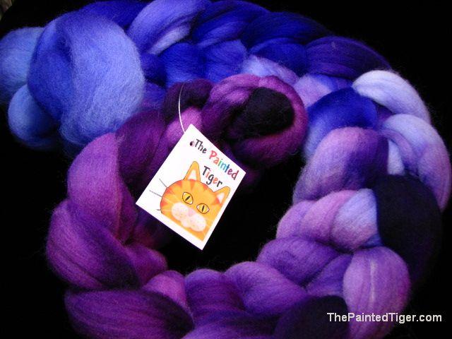 Perwinkle to Petunia Targhee Wool Nov 2014 Tiger Club