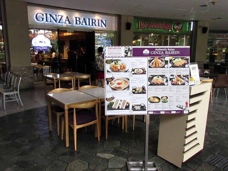 Ginza Bairin Trinoma Ginza Bairin Opened in Trinoma