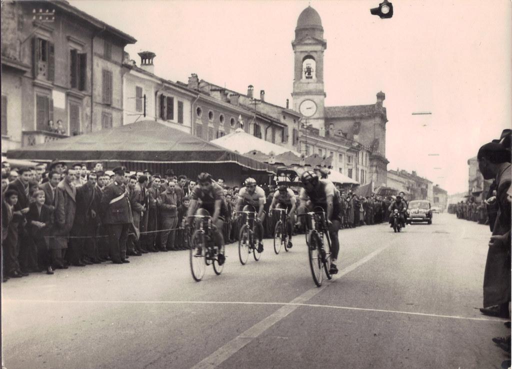 novembre 1957 vittoria tappa di Piadena (Cremona)