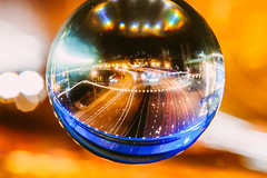 Traffic through glass ball | Kaunas