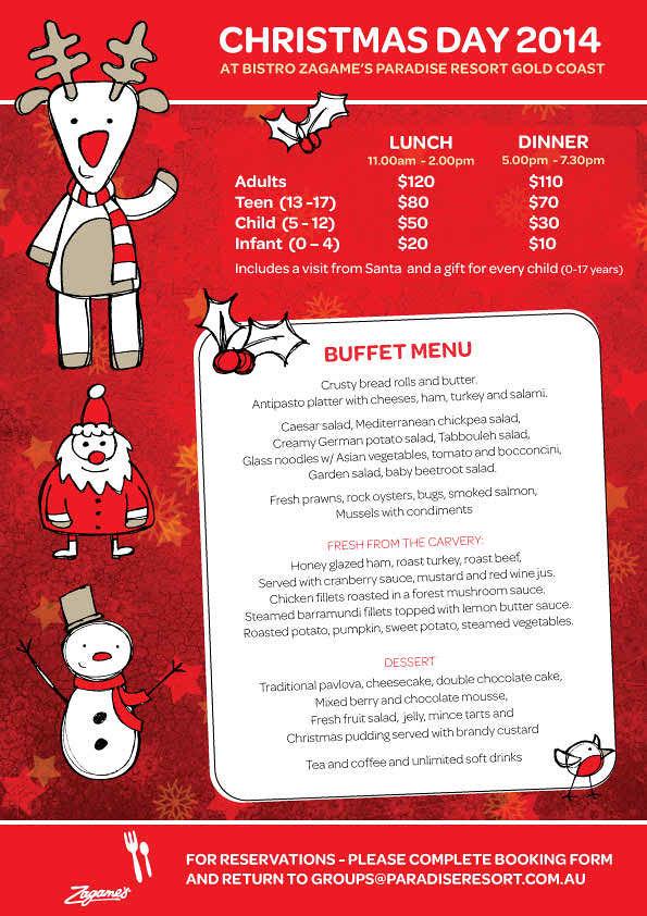Bistro - Christmas Dinner Menus 2014 | Bistro - Christmas Di