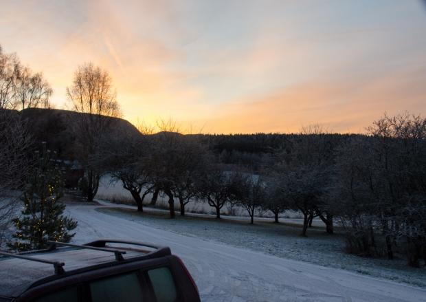 morning breaks through
