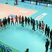 경기 종료후 인사를 나누는 한국전력 선수들