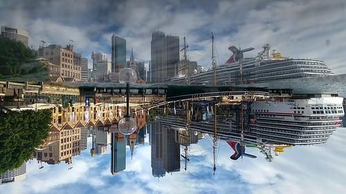 hotel reflection sydney harbor mobilephotography wow