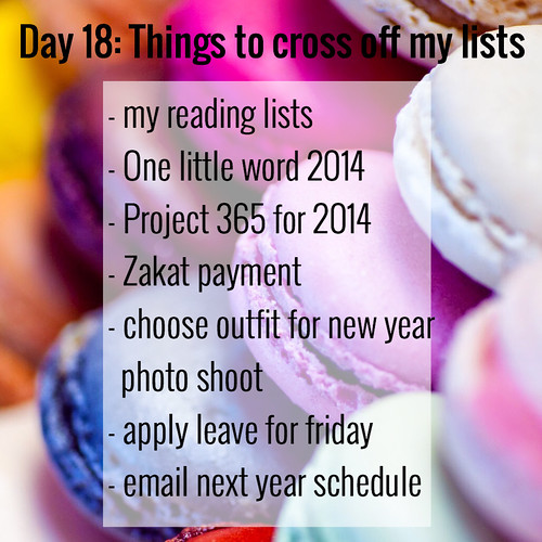 DAY 18 THINGS TO CROSS OFF MY LISTS