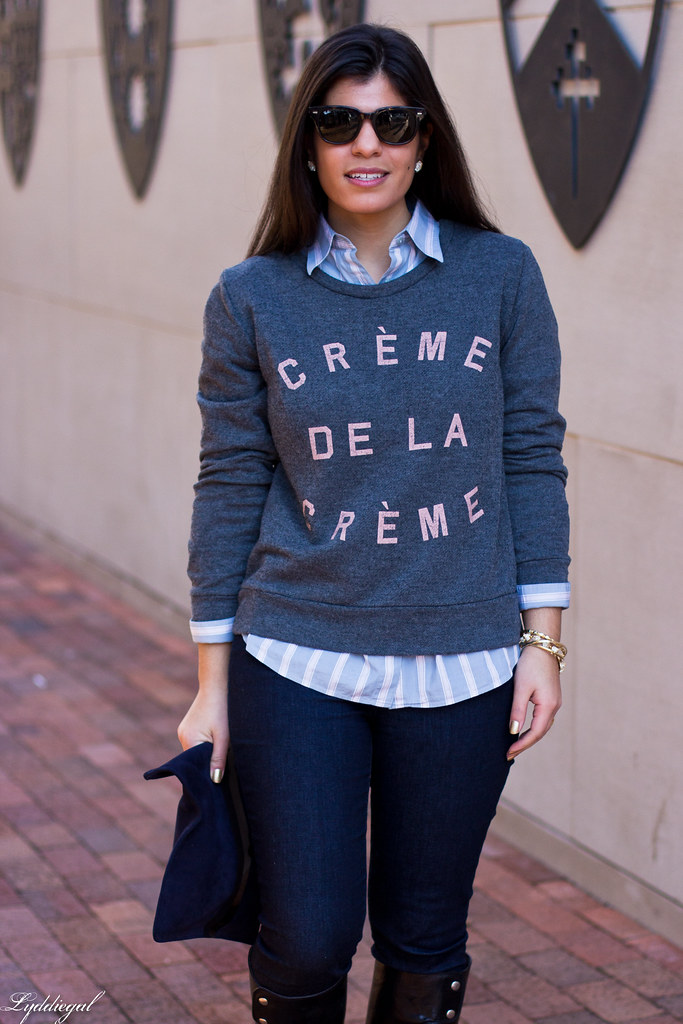 creme de la creme sweatshirt, striped shirt-2.jpg
