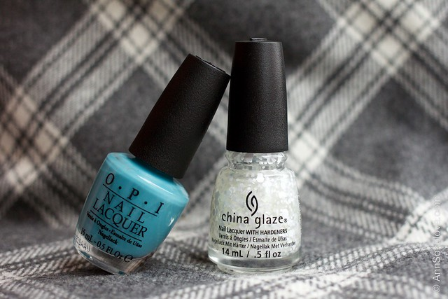 01 OPI   Can't Find My Czechbook + China Glaze   Chillin' With My Snow Mies