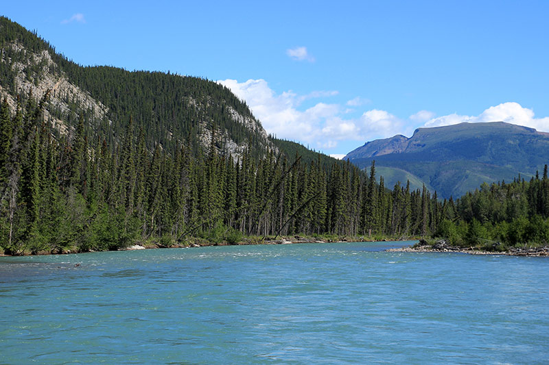 Trout River in Muncho Lake Provincial Park, British Columbia, Canada.