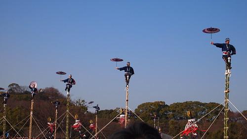 平成27年姫路市消防出初式のはしご乗り演技