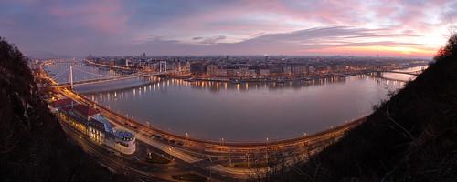 city bridge panorama river dawn early nightscape budapest duna danube hdr híd város hajnal panoráma folyó