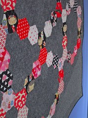 SEW KATIE DID:Somewhat Circular Hex Quilt:Side