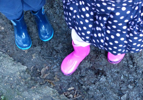 Muddy boots, getting some fresh air