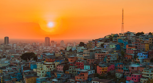 city travel sunset sun sol southamerica colors landscape ecuador sonnenuntergang ciudad colores stadt landschaft guayaquil farben guayas travelphotography puestodelsol ecuadortravel landscapephotograhpy