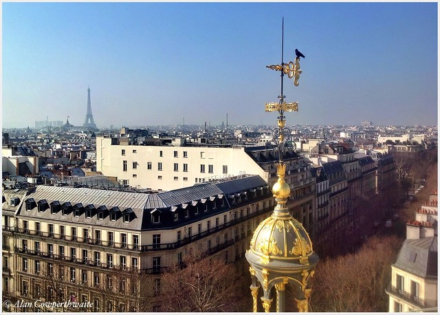 View from Printemps roof terrace