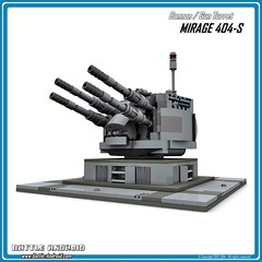Gun Turret MIRAGE 404-S (Custom LEGO model)