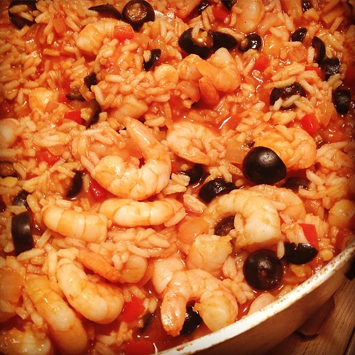 Family favorite! Shrimp Jambalaya for #dinner and in the table in 20 minutes! #yum #seafood