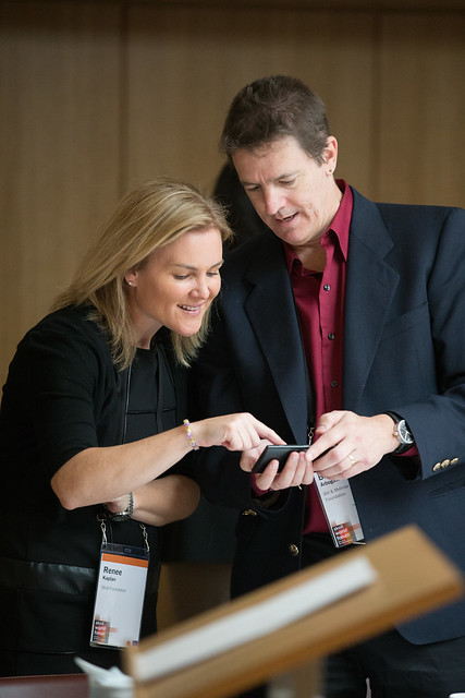 Renee Kaplan and Brian Arbogast at Giving Pledge, Skoll World Forum 2014, Saïd Business School, Oxford - skollwf 2014