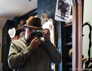 Checking out the hats in Old Town Pasadena