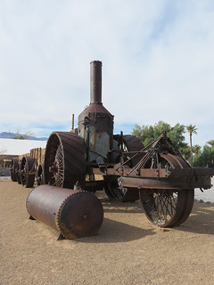 "Death Valley National Park, California. ""Old Dinah"" Steam Tractor."