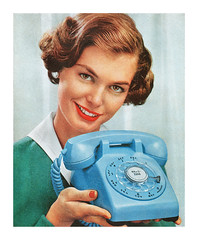 Detail from a 1959 Bell Telephone ad