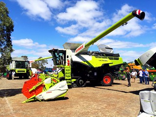 Claas Lexion 770 harvester on display at the 2015 Wimmera field day