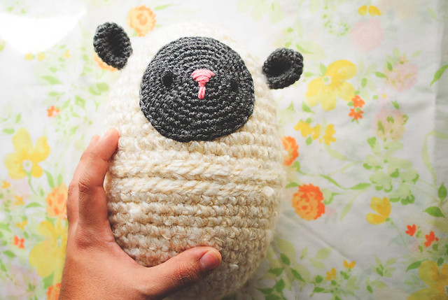 crochet lamb egg size